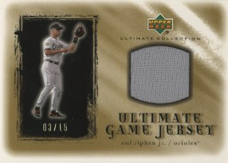 2001 Ultimate Collection Game Jersey Gold #UCR Cal Ripken