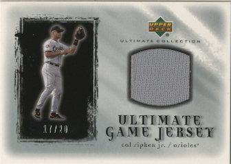 2001 Ultimate Collection Game Jersey Silver #UCR Cal Ripken