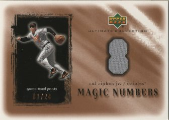 2001 Ultimate Collection Magic Numbers Game Jersey Copper #MNCR Cal Ripken