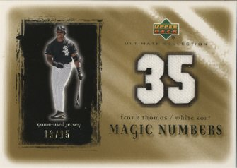 2001 Ultimate Collection Magic Numbers Game Jersey Gold #MNFT Frank Thomas
