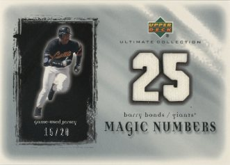 2001 Ultimate Collection Magic Numbers Game Jersey Silver #MNBB Barry Bonds