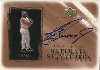 2001 Ultimate Collection Signatures Copper #KG Ken Griffey Jr.