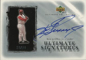 2001 Ultimate Collection Signatures Silver #KG Ken Griffey Jr.