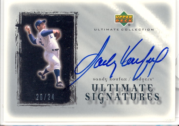 2001 Ultimate Collection Signatures Silver #SK Sandy Koufax