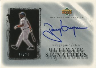 2001 Ultimate Collection Signatures Silver #TG Tony Gwynn