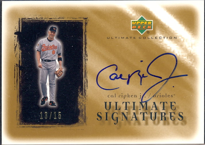 2001 Ultimate Collection Signatures Gold #CR Cal Ripken