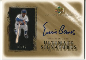 2001 Ultimate Collection Signatures Gold #EB Ernie Banks