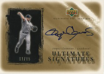 2001 Ultimate Collection Signatures Gold #RC Roger Clemens