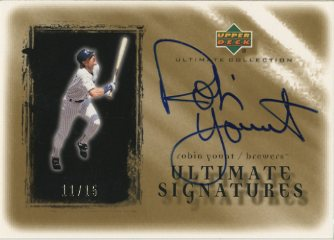 2001 Ultimate Collection Signatures Gold #RY Robin Yount