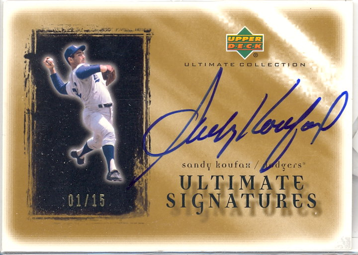 2001 Ultimate Collection Signatures Gold #SK Sandy Koufax