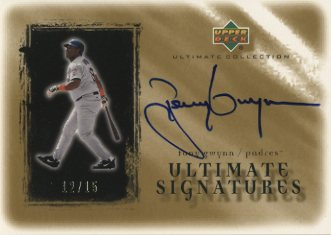 2001 Ultimate Collection Signatures Gold #TG Tony Gwynn