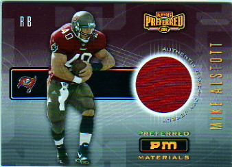 2001 Playoff Preferred Materials #42 Mike Alstott/500