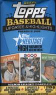 2 PACK LOT : 2008 Topps Heritage Baseball High Number (Hi #) Edition Factory Sealed Hobby Pack ( Random Autographs & Memorabilia Cards! ) 