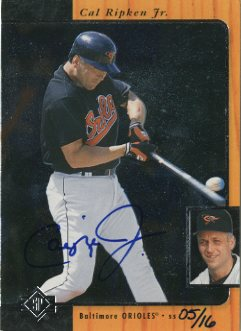 2001 SP Authentic BuyBacks #66 Cal Ripken 96/16