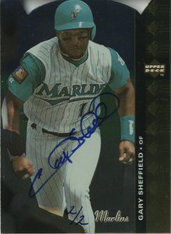 2001 SP Authentic BuyBacks #86 Gary Sheffield 94/3