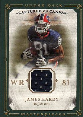 2008 UD Masterpieces Captured on Canvas Jerseys #CC27 James Hardy