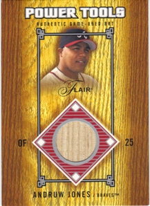 2003 Flair Power Tools Bats #AJ Andruw Jones