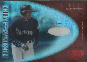 2001 Leaf Certified Materials Mirror Red #146 Ichiro Suzuki FF Base