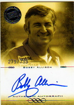 2008 Press Pass Legends Autographs Blue #BA Bobby Allison/740