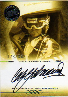 2008 Press Pass Legends Autographs Black #CY Cale Yarborough/342