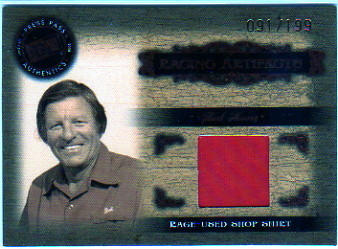 2008 Press Pass Legends Racing Artifacts Shirt Bronze #BMSH Bud Moore