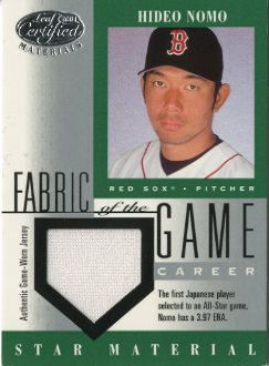 2001 Leaf Certified Materials Fabric of the Game #75CR Hideo Nomo/69