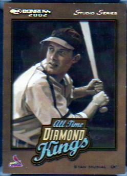 2002 Donruss All-Time Diamond Kings Studio Series #8 Stan Musial