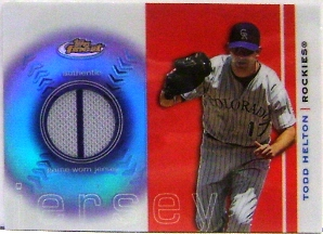 2003 Finest Uniform Relics #TH Todd Helton F