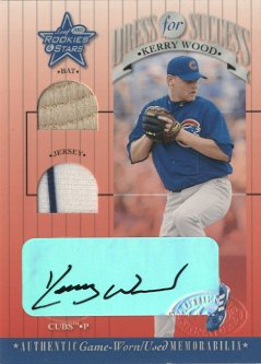 2001 Leaf Rookies and Stars Dress for Success Autographs #DFS17 Kerry Wood