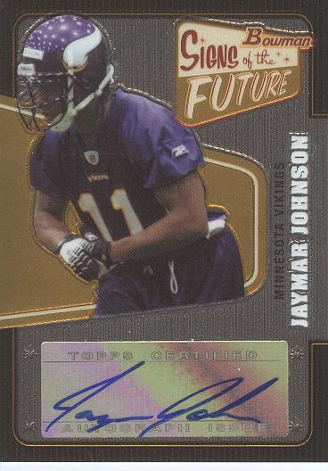 2008 Bowman Signs of the Future #SFJJ Jaymar Johnson D