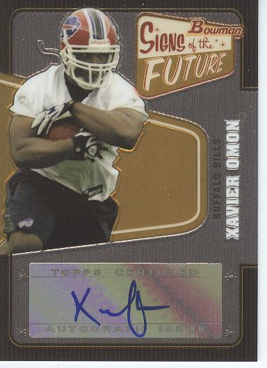 2008 Bowman Signs of the Future #SFXO Xavier Omon D