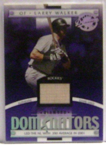2001 Donruss Class of 2001 Diamond Dominators #DM15 Larry Walker Bat/725