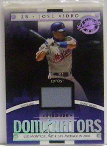 2001 Donruss Class of 2001 Diamond Dominators #DM21 Jose Vidro Jsy/725