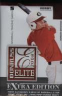 1 SEALED PACK : 2008 Donruss Elite Extra Edition Baseball Sealed Hobby Pack - ( Possible Autographs & Memorabilia Cards! ) (Includes Autos for Top Draft Picks for 2008)  