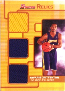 2007-08 Bowman Relics Triple Bronze #JC Javaris Crittenton