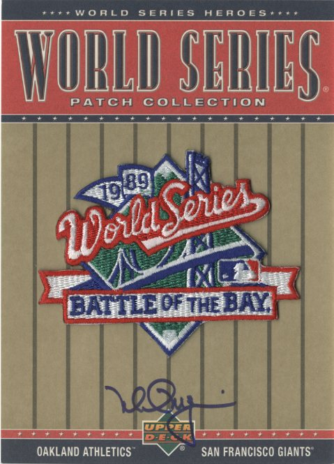 2002 Upper Deck World Series Heroes Patch Collection Signatures #WS89 Mark McGwire