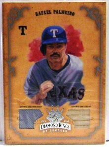 2004 Diamond Kings DK Materials Silver #39 Rafael Palmeiro Bat-Jsy/50