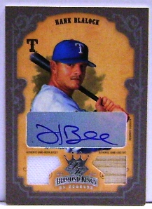 2004 Diamond Kings DK Combos Framed Silver #109 Hank Blalock Bat-Jsy/10