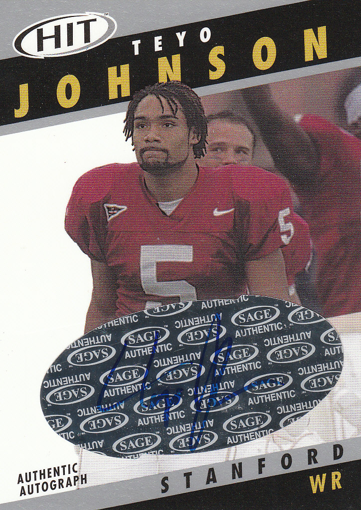 2003 SAGE HIT Autographs Silver #A40 Teyo Johnson