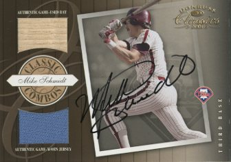 2001 Donruss Classics Combos Autograph #CC12 Mike Schmidt/15
