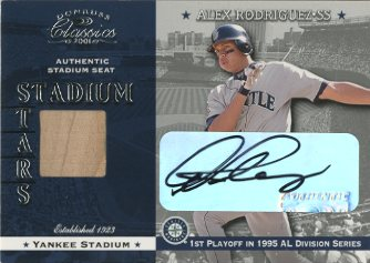 2001 Donruss Classics Stadium Stars Autographs #SS11 Alex Rodriguez
