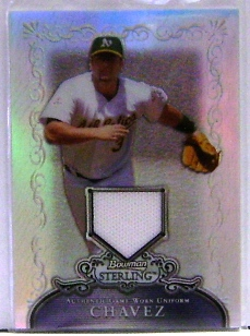 2006 Bowman Sterling Refractors #EC Eric Chavez Pants