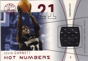 2003-04 Flair Final Edition Hot Numbers Jerseys 175 #KG Kevin Garnett