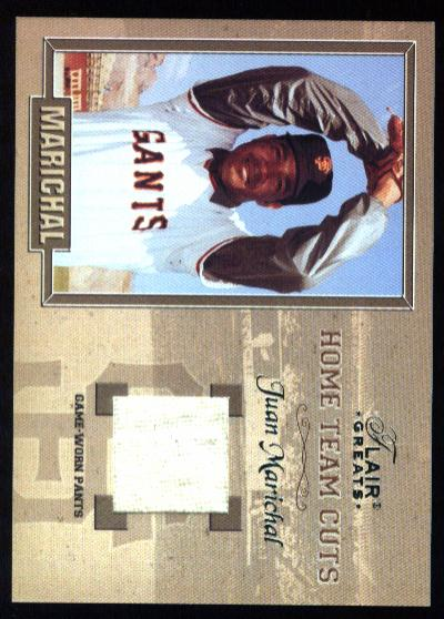 2003 Flair Greats Home Team Cuts Game Used #7 Juan Marichal Pants