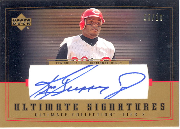 2002 Ultimate Collection Signatures Tier 2 Gold #KG2 Ken Griffey Jr.