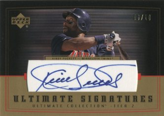 2002 Ultimate Collection Signatures Tier 2 Gold #KP2 Kirby Puckett