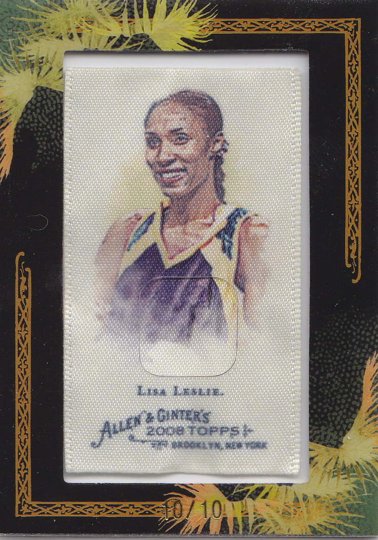 2008 Topps Allen and Ginter Mini Framed Cloth #247 Lisa Leslie