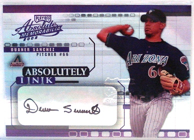 2002 Absolute Memorabilia Absolutely Ink #15 Duaner Sanchez