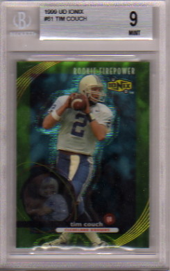 1999 UD Ionix #61 Tim Couch RC Graded BGS Mint 9