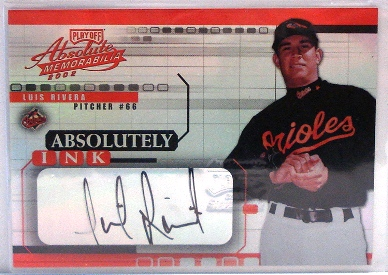2002 Absolute Memorabilia Absolutely Ink #33 Luis Rivera